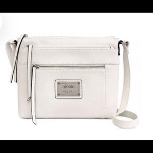 Nicole by Nicole Miller White Crossbody Purse NWT